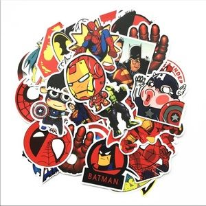 Other - Brand New 50Pcs Superhero Marvel Random Stickers